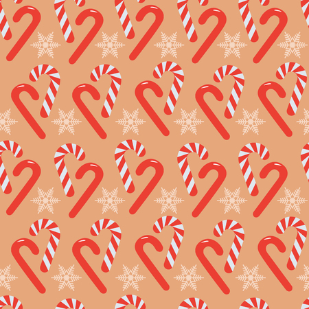 Christmas candy stick seamless pattern background. Perfect use for wallpaper, fabric, wrapping paper, gift-wrap, packaging and many more surfaces specially for christmas. Ilustração