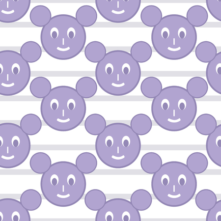 Pastel mickey face vector seamless pattern background made with geometrical shapes. Perfect use for fabric, wallpapers, packaging, gift-wrap, and many more surfaces, especially for kids. Stock Vector - 124697599