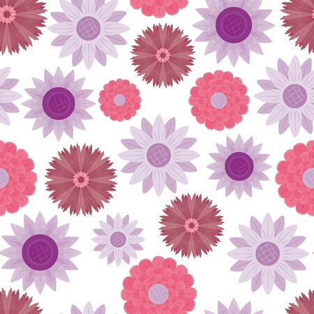 Vector sunflower and petal flower seamless pattern background in pastel colors. Can be use for wallpaper, fabric, giftwrap, scrapbooking, packaging, stationary etc.