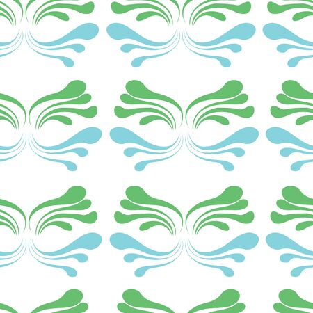 Simple deep sea grass vector seamless pattern background on white color base. Perfect use for wallpaper, fabric, packaging, giftwrap, fashion, home decor etc.