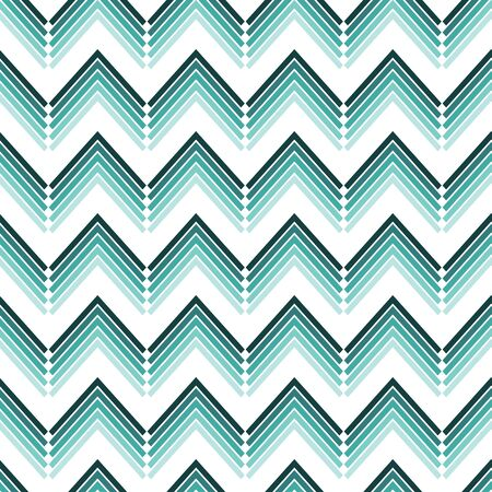 Vector green shaded zigzag vertical stripes seamless pattern background. Perfect use for fabric, wrapping paper, stationery, packaging projects etc. Illusztráció
