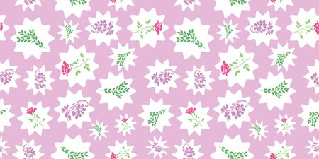 Vector rose, bail and green leafs with white