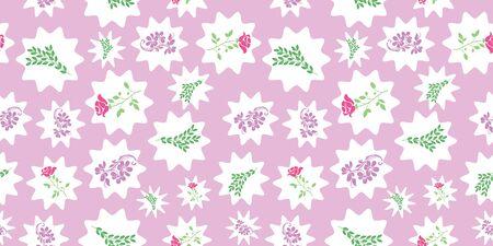 Vector rose, caution et feuilles vertes avec du blanc