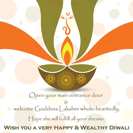 Vector Indian festival diwali greeting to wish Ilustracja