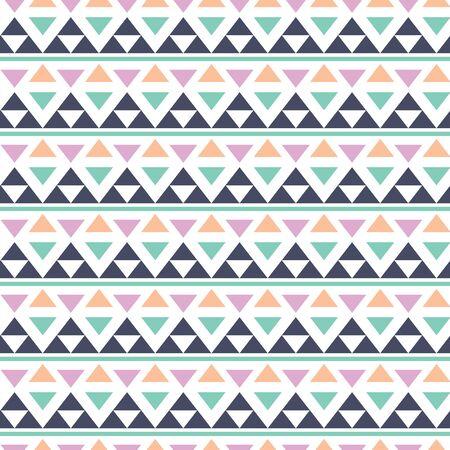 Vector geometric pastel multicolored triangle Illustration