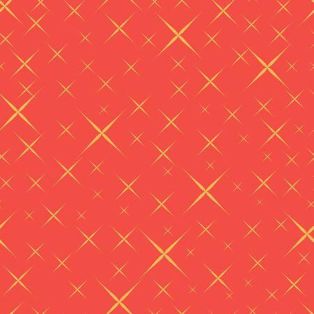 Vector geometric yellow stars 70s retro vintage