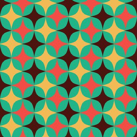 Vector geometric vertical star lines, 70s retro