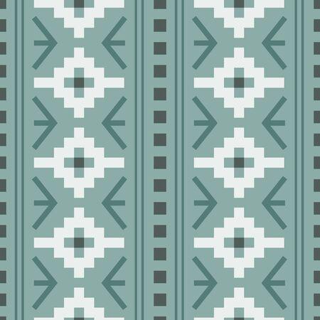 Vector pastel green woven geometric design seamless pattern background Vettoriali
