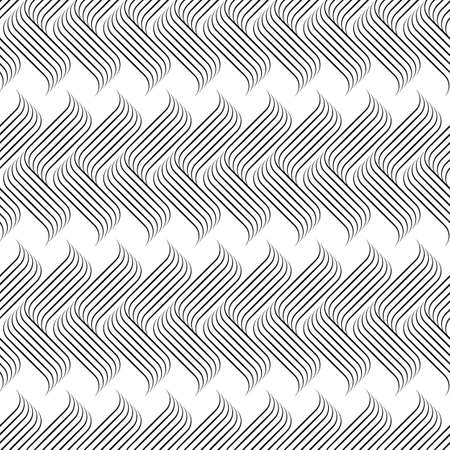 Vector abstract linear seamless pattern background on white surface.