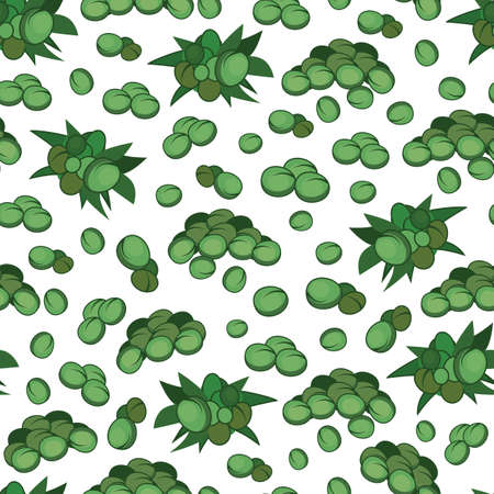 Vector marijuana hemp small leaves and seeds seamless pattern background. Great use for wellbeing, fabric, wallpaper, packaging projects, medical projects etc.