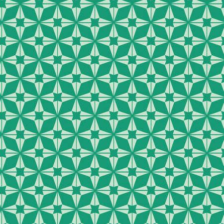 Vector pastel mint green star shape seamless pattern background