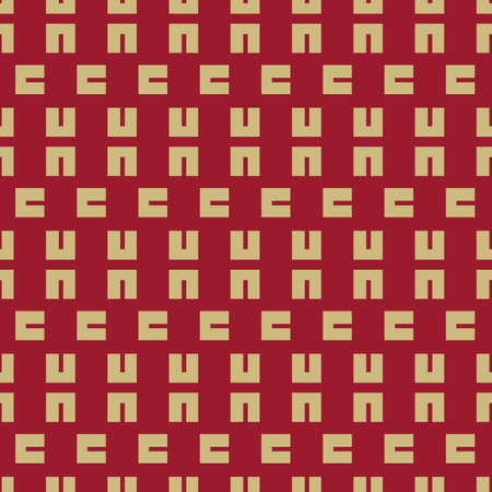 Vector golden colored geometric block seamless pattern background