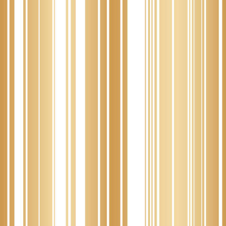 Vector geometric golden vertical lines seamless pattern background on white surface