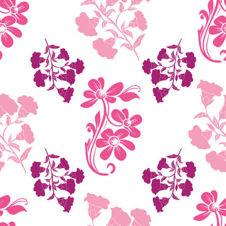 Vector trendy monochrome bold big flowers seamless pattern background. Perfect use for fabrics, wallpapers, giftwraps, trending projects, packaging projects etc.