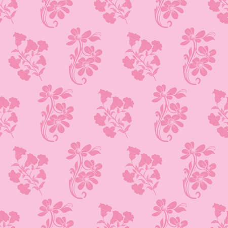 Vector trendy monochrome bold pink flower bunch seamless pattern background. Perfect use for fabrics, wallpapers, trending projects etc.