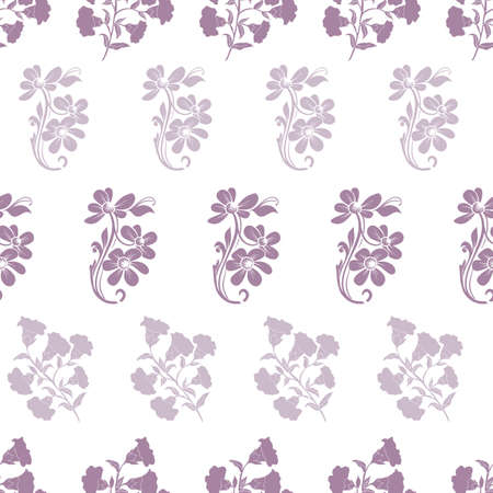 Vector trendy monochrome bold flowers bunch horizontal lines seamless pattern background on white surface. Perfect use for fabrics, wallpapers, giftwraps, trending projects etc.