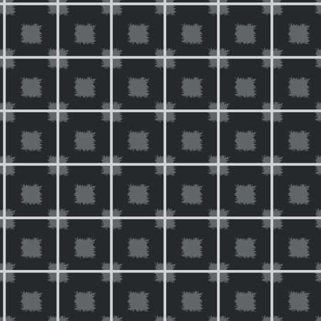 Vector grey, black and white colored plaids or check seamless pattern background. Good use for fabric, wallpaper, kitchen towel, home decor etc.