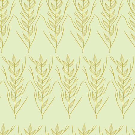 Vector green leaves brunch half tone seamless pattern background. Great use for fabric, wallpaper, giftwrap, wrapping paper and many more.