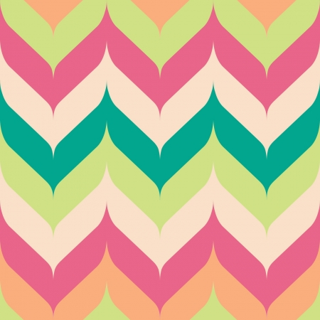 Seamless chevron background pattern with pointed and rounded edges  Ilustração