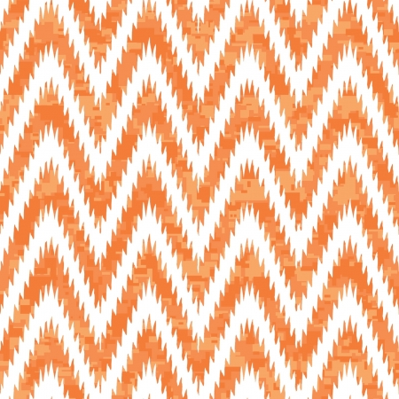 Reworked Camouflage Chevron Melange with Ikat Edge