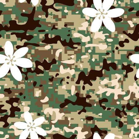 non: Seamless modern non combat camouflage pattern