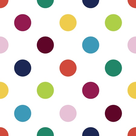 polka dot wallpaper: Seamless retro inspired youthful polka dot pattern in candy colors