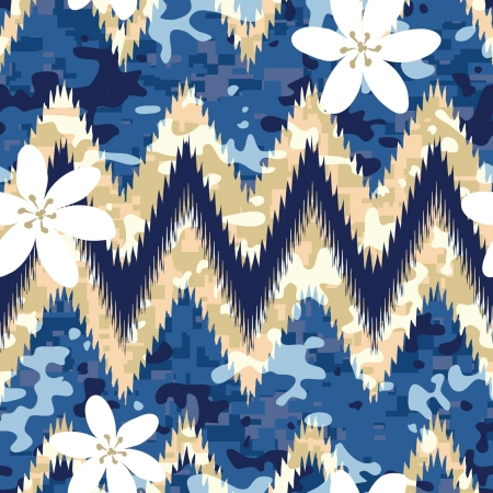 Modern seamless Hawaiian camouflage shirt background pattern