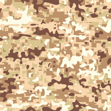Modern seamless digital desert camo background pattern