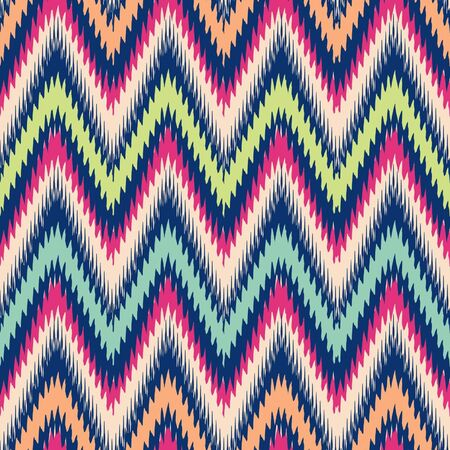 Seamless modern ikat chevron background pattern