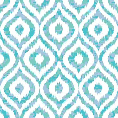 Seamless Ogee Camouflage in Ikat Weave Pattern Vector