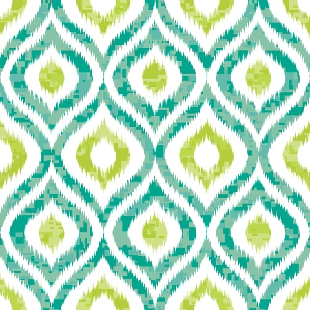 eclectic: Seamless Ogee Camouflage in Ikat Weave Background Pattern