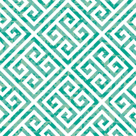 Seamless Emerald Greek Key Background Pattern Vector