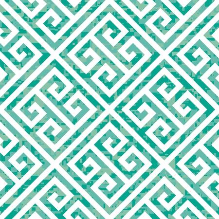 high key: Seamless Emerald Greek Key Background Pattern