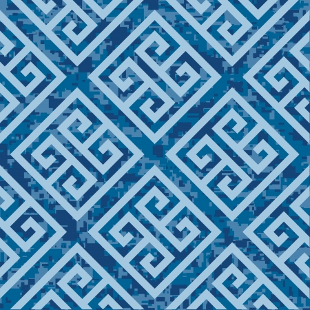 high key: Seamless Greek Key Background Pattern