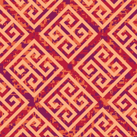 camoflage: Seamless Greek Key Background Pattern