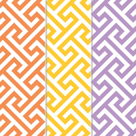Three Separate Seamless Cross Tee Background Patterns  Vector