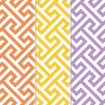 separate: Three Separate Seamless Cross Tee Background Patterns