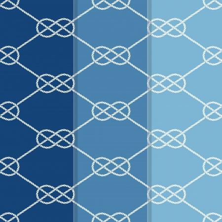 overhand: Set of Three Seamless Figure 8 Background Patterns  Illustration