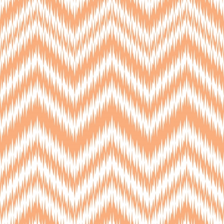 Seamless Coral Ikat Chevron Background Pattern