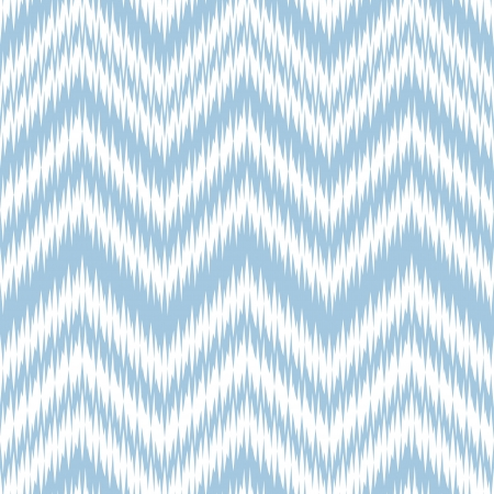 Seamless Blue Ikat Chevron Background Pattern Ilustração