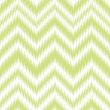 Seamless Green Ikat Chevron Background Pattern