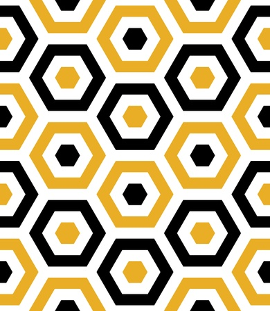 Seamless Beach Fun Hexagon Background Pattern  Ilustração