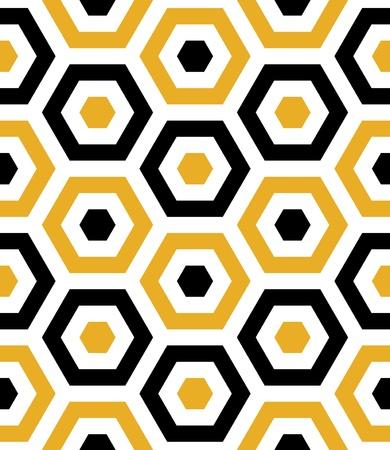 Seamless Beach Fun Hexagon Background Pattern Banco de Imagens - 19744801
