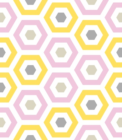 eclectic: Seamless Beach Fun Hexagon Background Pattern  Illustration