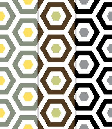 Seamless Beach Fun Hexagon Background Pattern