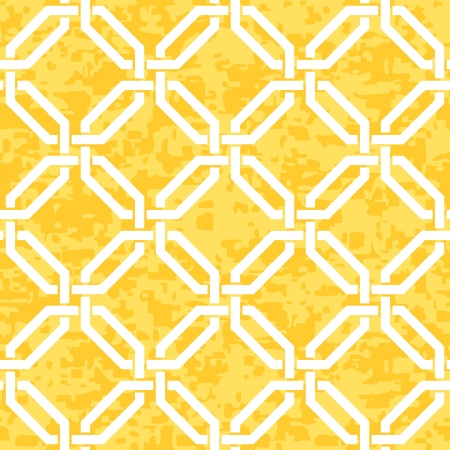 interlocked: Seamless Distressed Interlocked Octagon, Geometric Background Pattern