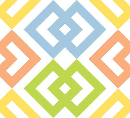 interlocked: Seamless Interlocked Squares and Arrows Geometric Background Pattern  Illustration