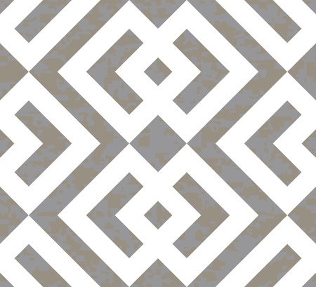 Seamless Interlocked Squares and Arrows Geometric Background Pattern  Ilustração