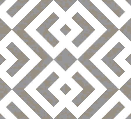 Seamless Interlocked Squares and Arrows Geometric Background Pattern Banco de Imagens - 19744797