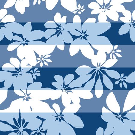 distressed paper: Lucky Stripe Pop Botanical Seamless Background Pattern